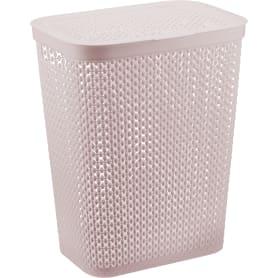 Корзина для белья «Пирула» цвет розовый