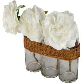 Декоративные бутылки с розами 23 см