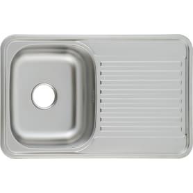 Мойка MAIDSINKS LS7848 78x48x18 см, нержавеющая сталь, цвет серебристый