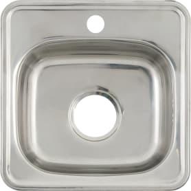 Мойка MLN3838 38x38x16 см, нержавеющая сталь, цвет серебристый