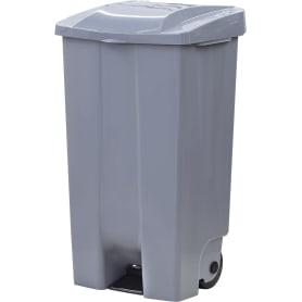 Бак садовый для мусора на колесиках с педалью 110 л цвет серый