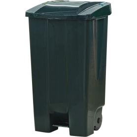 Бак садовый для мусора на колесиках с педалью 110 л цвет зелёный