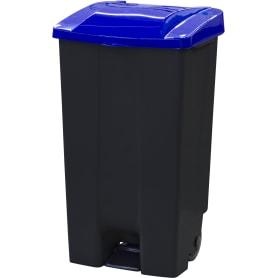 Бак садовый для мусора на колесиках с педалью 110 л цвет чёрный