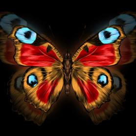 Картина на стекле «Бабочка» 40х40 см
