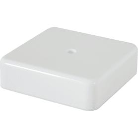 Коробка распределительная 75x75x20 мм цвет белый, IP20
