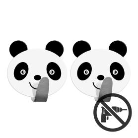 Крючок Panda 2 шт. цвет белый/черный