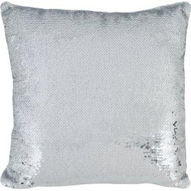 Подушка с пайетками «Diva» 40x40 см цвет серебристый