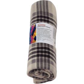 Плед «Basic» 130x170 см флис цвет белый/чёрный