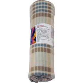 Плед «Basic» 130x170 см флис цвет серо-голубой