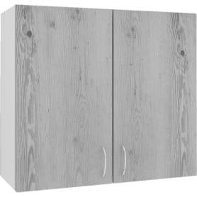 """Шкаф навесной """"Сосна выбеленная"""" 80x67.6x29 см, ЛДСП, цвет сосна выбеленная"""