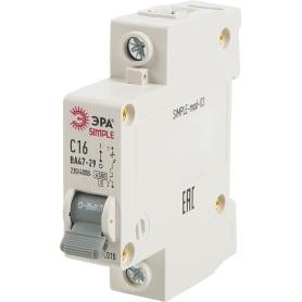 Выключатель автоматический Эра Simple 1 полюс 16 А, «C»