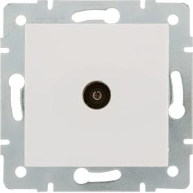ТВ-розетка оконечная встраиваемая Lexman Виктория шлейф,цвет белый