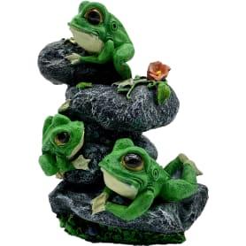 Садовая фигура «Лягушата на камнях» высота 32 см