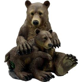Садовая фигура «Два медведя» высота 43 см