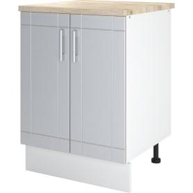 """Шкаф напольный """"Тортора"""" 60x86x60 см, МДФ, цвет серый"""