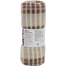 Плед Basic 130x170 см флис цвет коричневый
