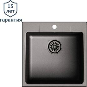 Мойка врезная Delinia LM1, 51x51 см, кварц, цвет чёрный