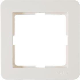 Рамка для розеток и выключателей Schneider Electric W59 Deco 1 пост, цвет слоновая кость
