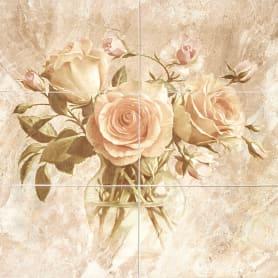 Панно настенное Garda «Цветы» 27.5x40 см 0.648 м² цвет бежевый
