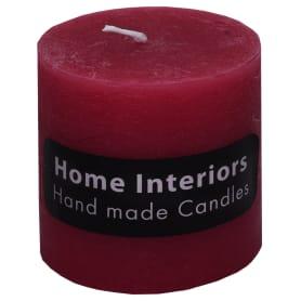 Свеча-столбик «Рустик» 7х8 см цвет бордо