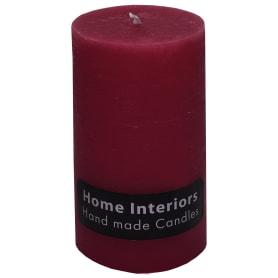 Свеча-столбик «Рустик» 7х13 см цвет бордо