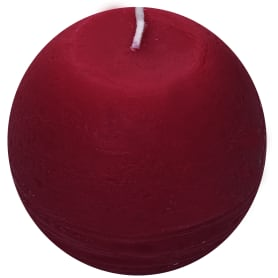 Свеча-шар «Рустик» 8 см цвет бордо