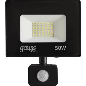 Прожектор светодиодный уличный Gauss Basic SMD 50 Вт 6500К IP65 с датчиком движения и освещённости