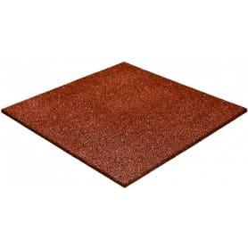 Плитка резиновая Ecogold 500х500х16 мм коричневый