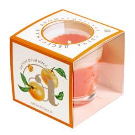 Свеча ароматическая «Цитрусовый мусс» 60 гр, цвет оранжевый