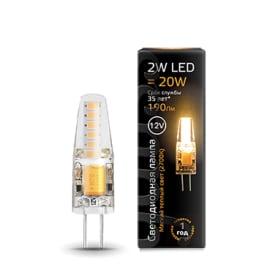 Лампа светодиодная Gauss G4 12 В 2 Вт прозрачная 190 лм, тёплый белый свет