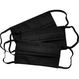 Маска х/б двухслойная, цвет черный,3 шт.