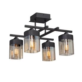 Люстра потолочная «Трика», 4 лампы, 12 м², цвет чёрный