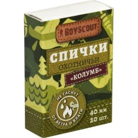 Спички Boyscout «Колумб» 40 мм, 20 шт.