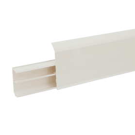 Плинтус напольный «Белый Глянцевый» высота 80 мм, длина 2.2 м
