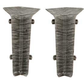Угол для плинтуса внутренний «Дуб Макао» 80 мм 2 шт.