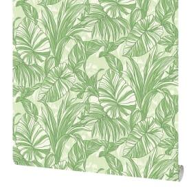 Обои флизелиновые Аспект Тропики зелёные 1.06 м 30197-17