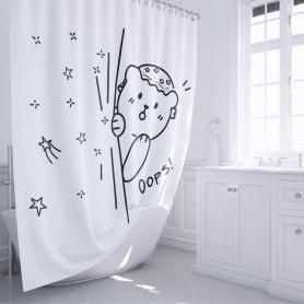Шторка для ванной Teddy Oops 180х200 см цвет белый