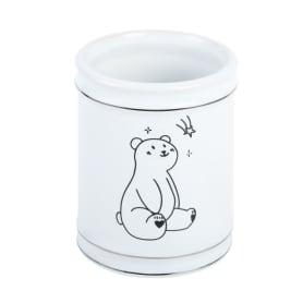 Стакан для зубных щеток Teddy керамика цвет белый