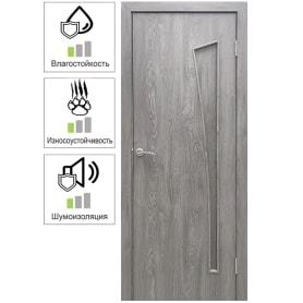 Дверь межкомнатная Белеза глухая ламинация цвет тернер серый 60х200 см