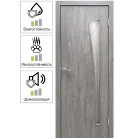 Дверь межкомнатная Белеза остекленная ламинация цвет тернер серый 70х200 см