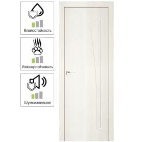 Дверь межкомнатная Белеза глухая ламинация цвет тернер белый 60х200 см