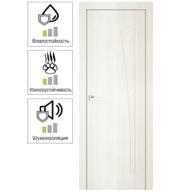 Дверь межкомнатная Белеза глухая ламинация цвет тернер белый 90х200 см