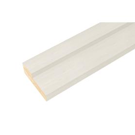 Дверная коробка Белеза 2070x70x26 мм ламинация цвет тёрнер белый (комплект 2.5 шт.)