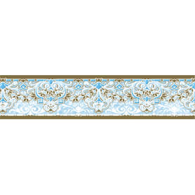 Бордюр бумажный «Симфония» Б-021 0.08x1.4 м, вензель, цвет бежевый/голубой