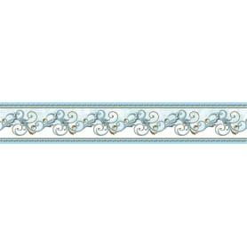 Бордюр бумажный «Симфония» Б-029 0.06x1.4 м, вензель, цвет голубой