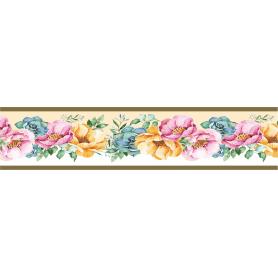 Бордюр бумажный «Симфония» Б-018 0.08x1.4 м, цветы, цвет мультиколор