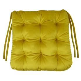 Сидушка для стула «Бархат» 40x36 см цвет жёлтый