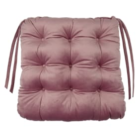 Сидушка для стула «Бархат» 40x36 см цвет пыльная роза