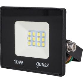 Прожектор светодиодный уличный Gauss Basic 10 Вт 6500К IP65, цвет чёрный