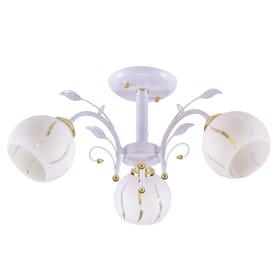 Люстра потолочная «Амплуа», 3 лампы, 9 м², цвет белый/бежевый